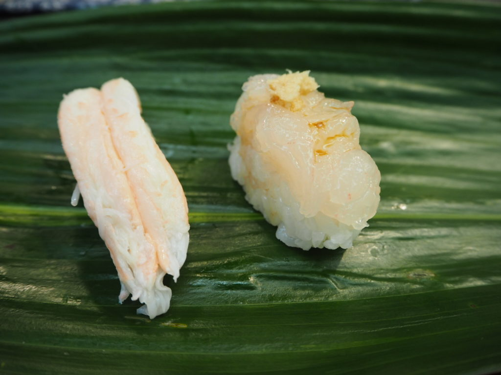 寿司 かに 白エビ
