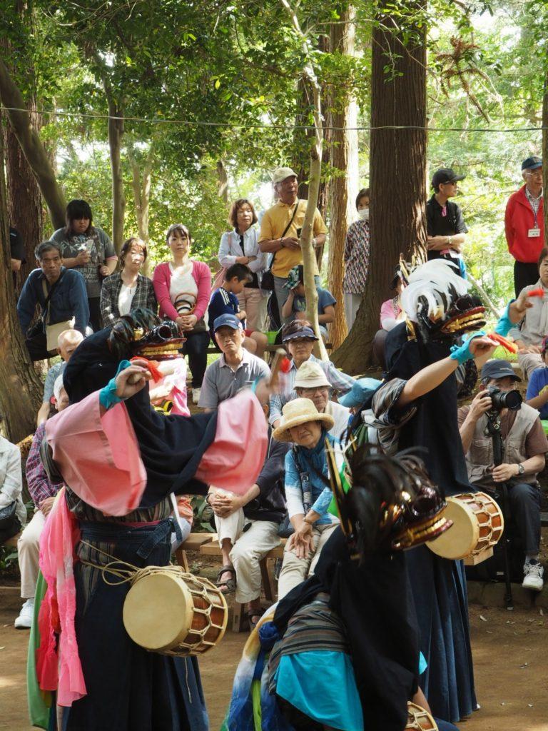 鳥海神社の獅子舞4